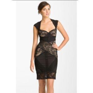 Nicole Miller- Black Lace sheath dress